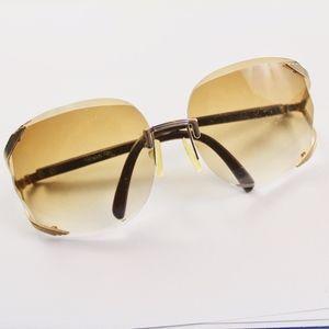 Vintage 1960s Brown Gradient Oversized Sunglasses